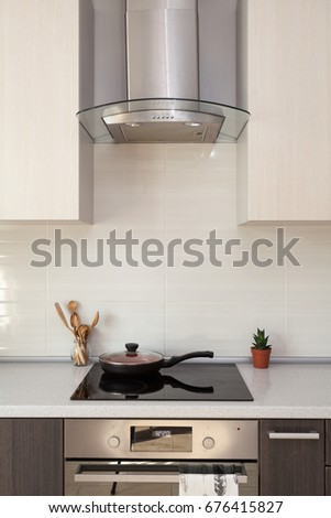 Modern Kitchen Exhaust Hoods kitchen hood stock images, royalty-free images & vectors