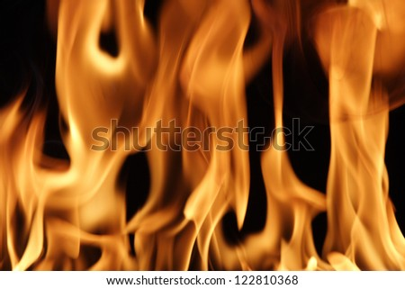 Closeup of fire flames for backgrounds - stock photo