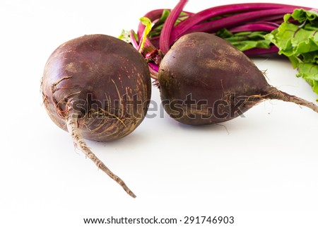 Closeup of fresh harvest of beets.