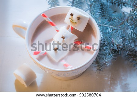 Closeup of funny snowman for Christmas
