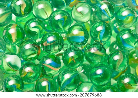 Closeup of glass marble balls - stock photo
