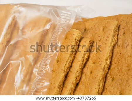 closeup of graham crackers in wrapper - stock photo