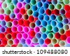 Closeup of group colorful straws - stock photo