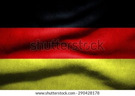 Closeup of grunge GERMAN  flag - stock photo