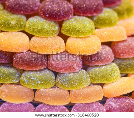 Closeup of jelly candies