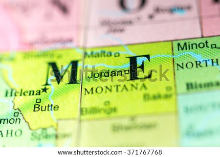 Montana Jordan Stock Images RoyaltyFree Images Vectors - Montana political map