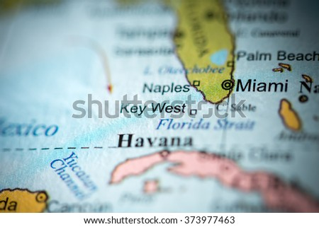 Key west map stock images royalty free images vectors closeup of key west florida on a political map of usa gumiabroncs Image collections