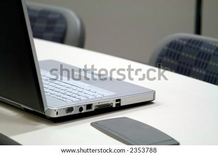 closeup of laptop - stock photo