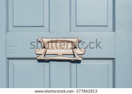 Closeup of letter box in a wooden door close up & Door Letter Box Stock Images Royalty-Free Images \u0026 Vectors ... Pezcame.Com