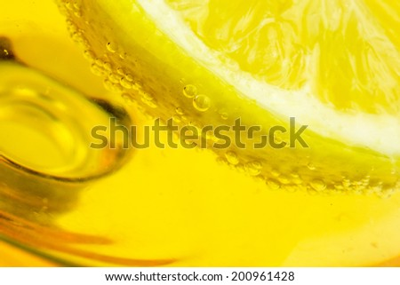 Closeup of Limon on Alcohol glass