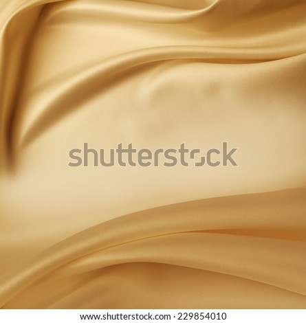 Closeup of lines in brown silk fabric  - stock photo
