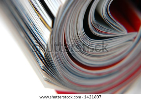 Closeup of magazine roll together (Shallow DOF)