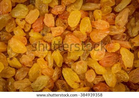 closeup of many raisins shot as background - stock photo