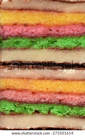 Closeup of marzipan petite fours - stock photo
