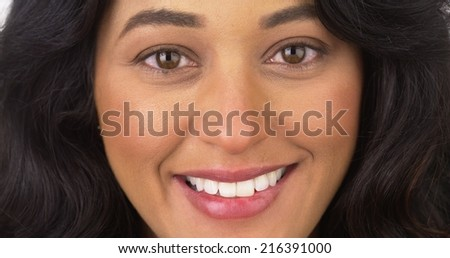 Closeup of Mexican woman smiling