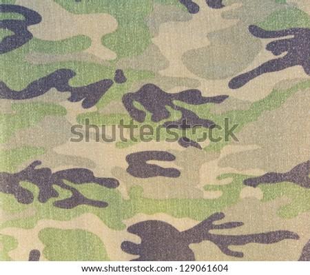 Closeup of military fabric pattern background - stock photo