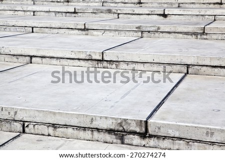 Closeup of modern concrete stairs