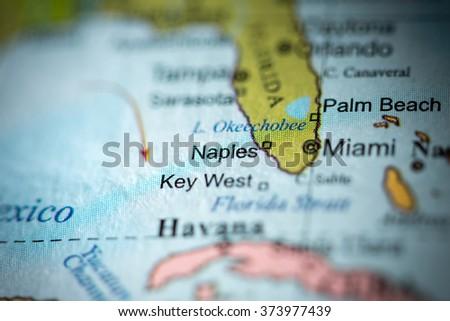 Closeup Naples Florida On Political Map Stock Photo (Edit Now ...