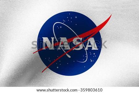 Closeup of NASA flag - stock photo