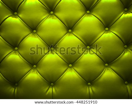 Closeup of Natural green leather texture with in the shadow