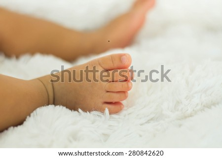 Closeup of newborn baby