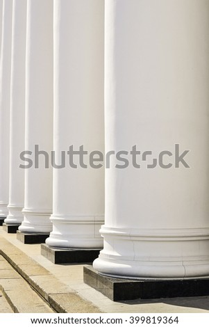 Closeup of old Gierek-style columns.