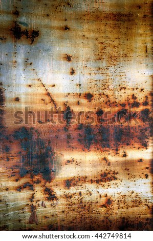 Closeup of old rusty metal as background. - stock photo