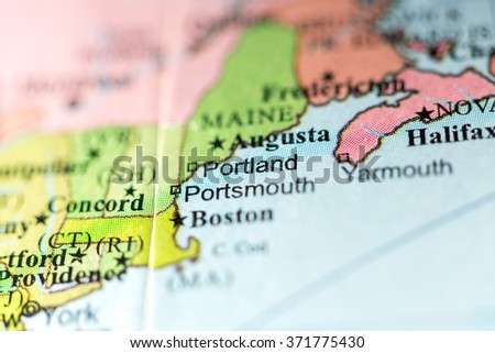 Portland Maine City Stock Images RoyaltyFree Images Vectors - Portland usa map