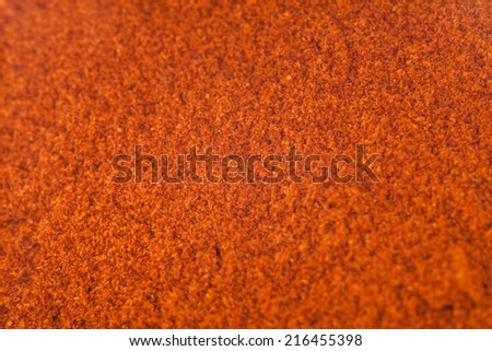 Closeup of Red Spicy Pepper Powder texture - stock photo