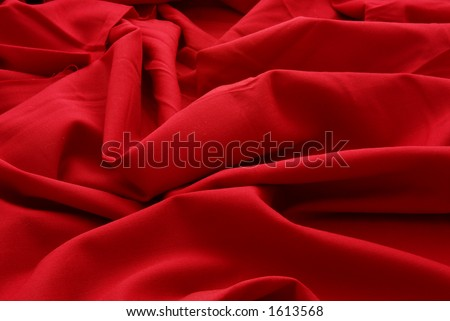 Closeup of red wool - stock photo