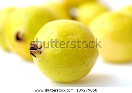 closeup of ripe guava - stock photo