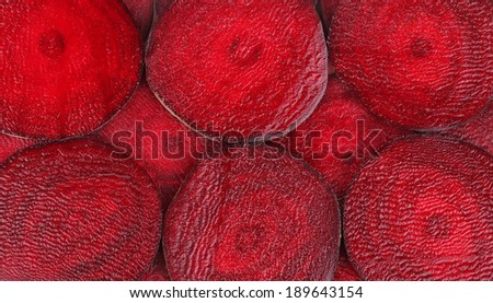 Closeup of ripe tasty sliced ripe beet. - stock photo
