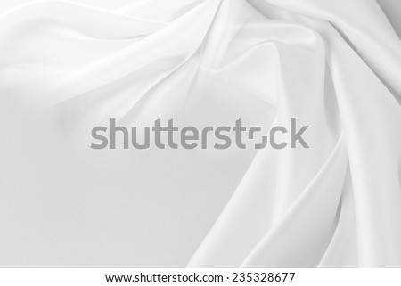 Closeup of rippled silk fabric