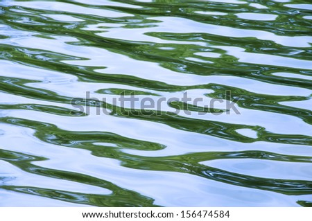 Closeup of rippled water surface - stock photo