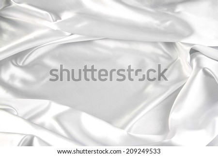 Closeup of ripples in silk fabric
