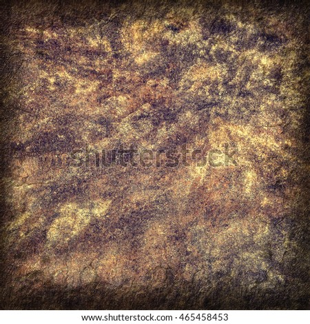 Closeup of rough stony texture with cracks and vignette effect