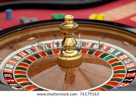 closeup of roulette table in the casino