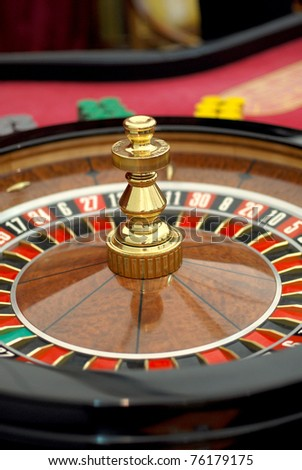 closeup of roulette table in the casino - stock photo