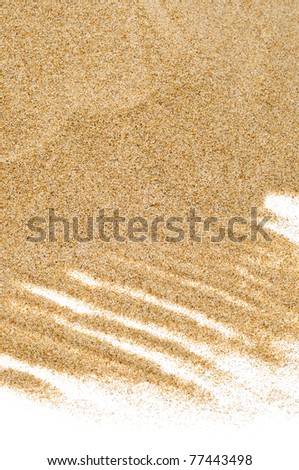 closeup of sand on a white background - stock photo