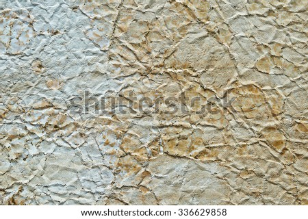 Closeup of seamless beige leather texture for background - stock photo
