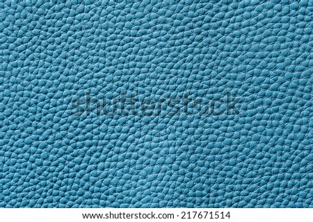 Closeup of seamless blue leather texture for background - stock photo