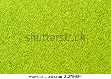 Closeup of seamless green leather texture for background - stock photo