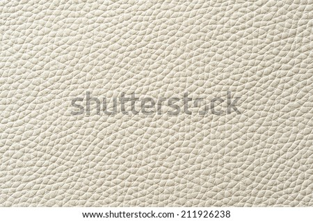 Closeup of seamless white leather texture for background - stock photo