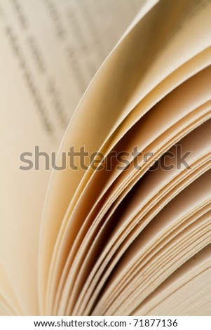 Closeup of several pages from a book - stock photo