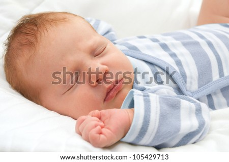 Closeup of Sleeping Newborn Baby