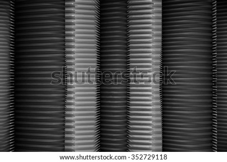 Closeup of sliding multi-flap metal doors. Modular roller shutter entrance to depository or storage. Contemporary architectural detail of office or industrial premises. Safety concept.  - stock photo