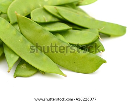 closeup of snow peas food