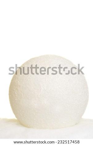 closeup of snowball - stock photo