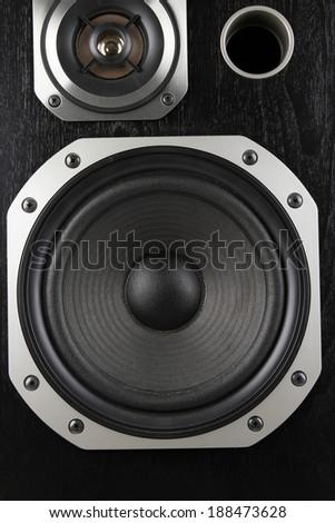 Closeup of stereo speakers  - stock photo