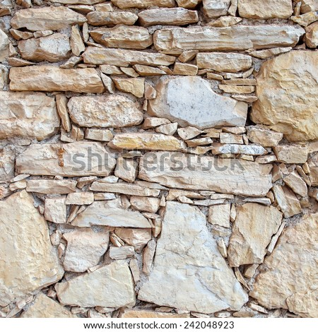 Closeup of stone wall for background or texture